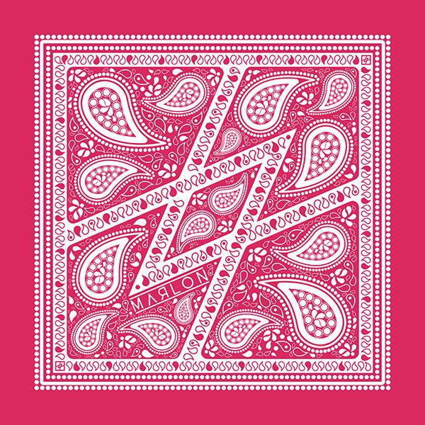 marlon bandana folk pink bandanas pink folk foular